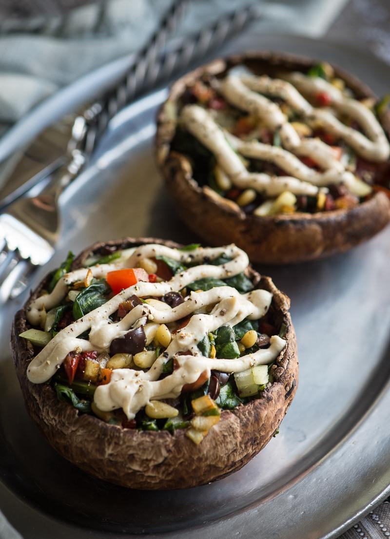 Enjoy These Raw Vegan Meals-Raw Stuffed Mushrooms at Rawmazing.com