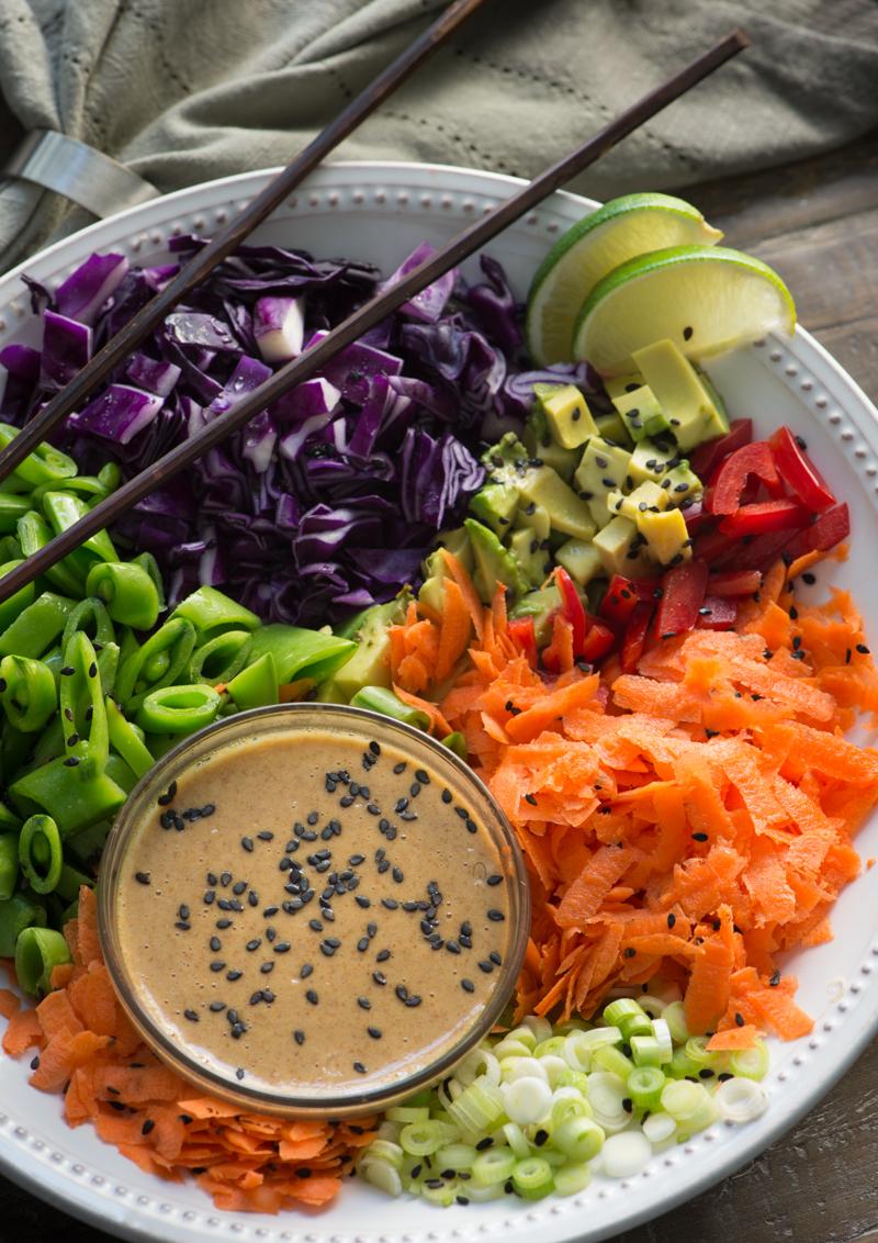 Raw Vegan Spring Roll Bowl @Rawmazing.com