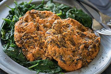Simple Savory Wild Rice Sweet Potato Patties