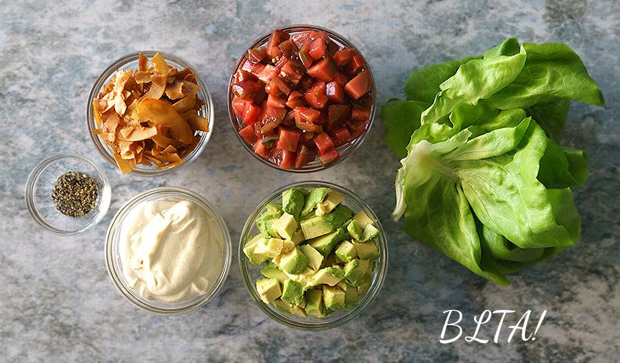 Vegan BLTA Ingredients
