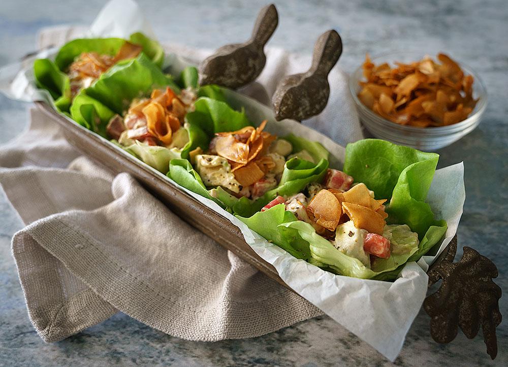 Vegan BLTA Lettuce Cups